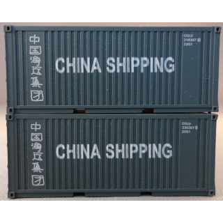 TT 2 Stück 20 Container China Shipping